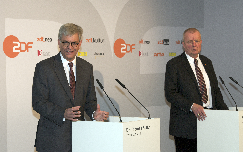 Dr.Thomas Bellut, Ruprecht Polenz. Foto: Carmen Sauerbrei / ZDF