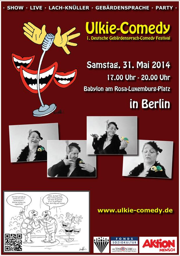 Grafik: Plakat zum 1. Ulkie Comedy Festival